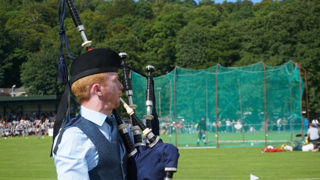 Piper at the Oban Games