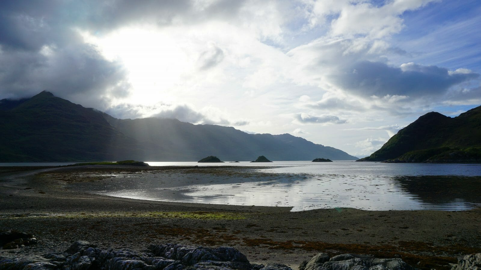 A view of Barrisdale Bay at low tide.